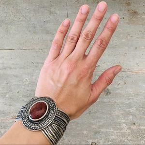♥️ Boho ♥️ Stone Silver Bracelet